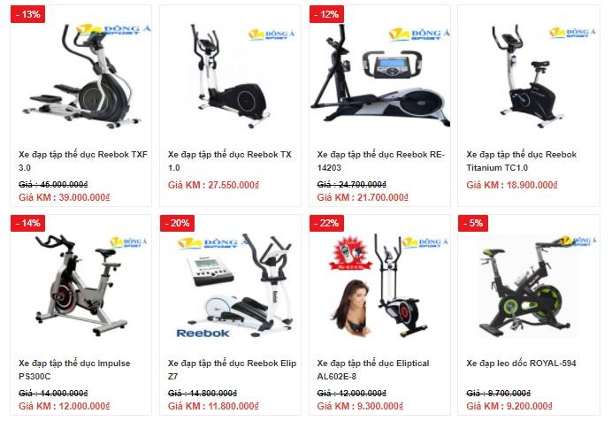 Giá các loại xe đạp tập thể dục