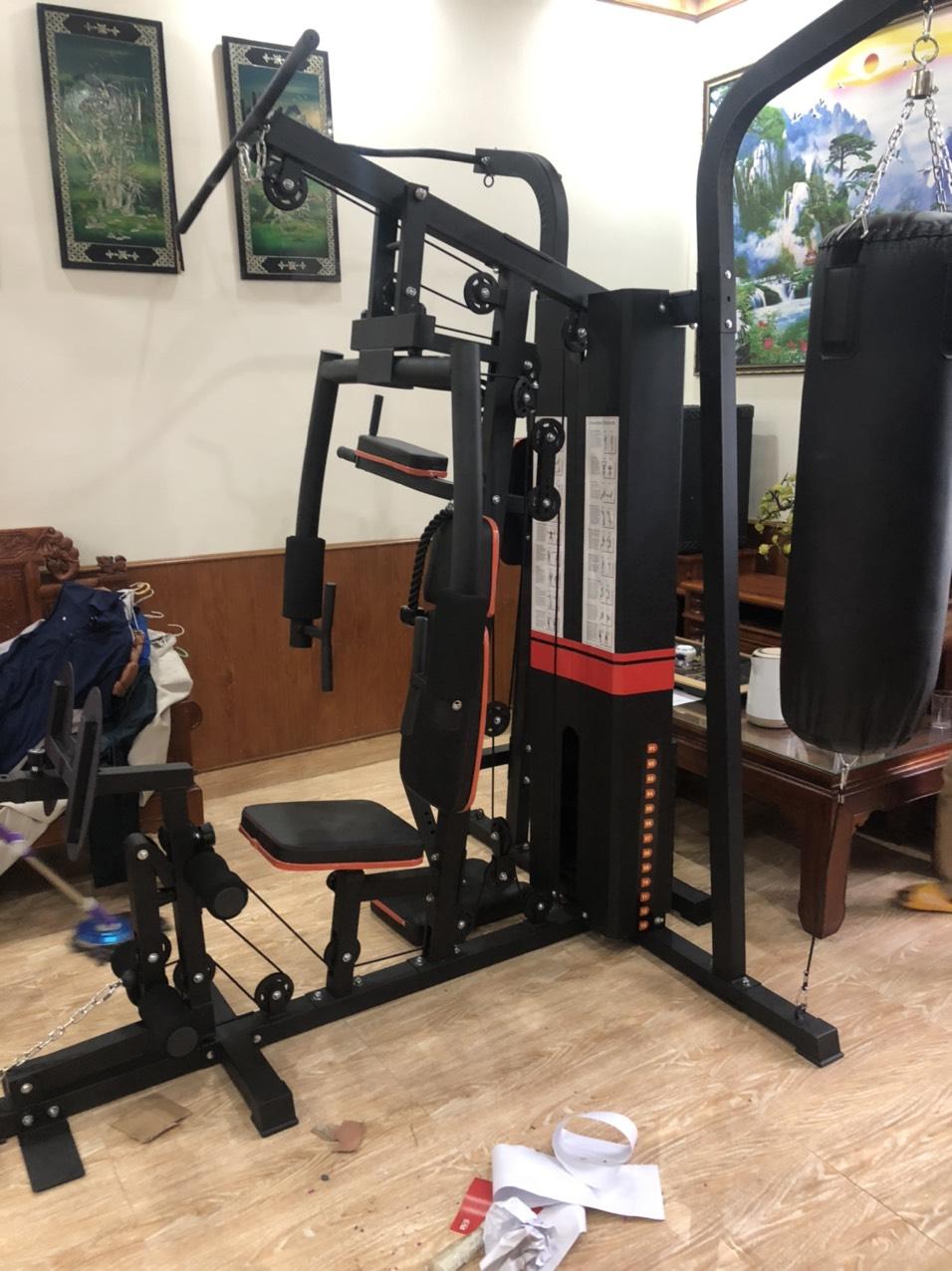 Bộ dụng cụ giàn tạ tập gym tại nhà