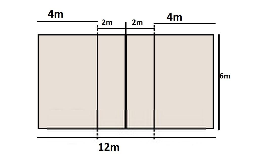 Kích thước sân bóng chuyền hơi