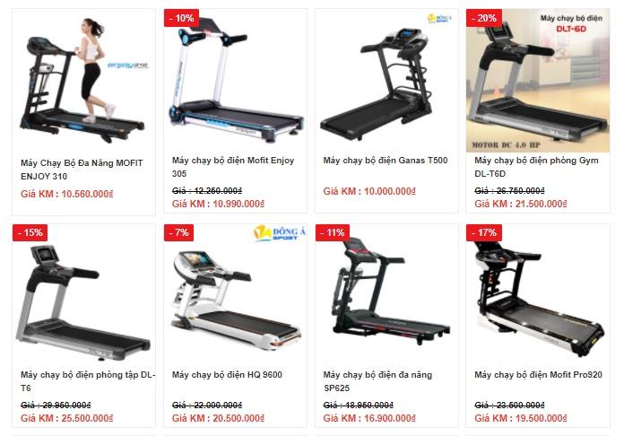 Giá máy chạy bộ