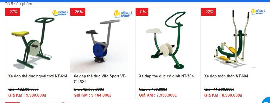 Giá Xe đạp tập thể dục ngoài trời