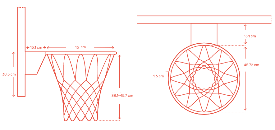 Bản vẽ vành bóng rổ