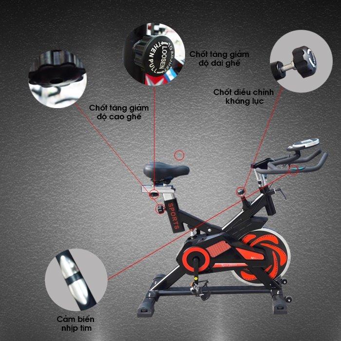 Cấu tạo Xe đạp tập thể dục YB-7800