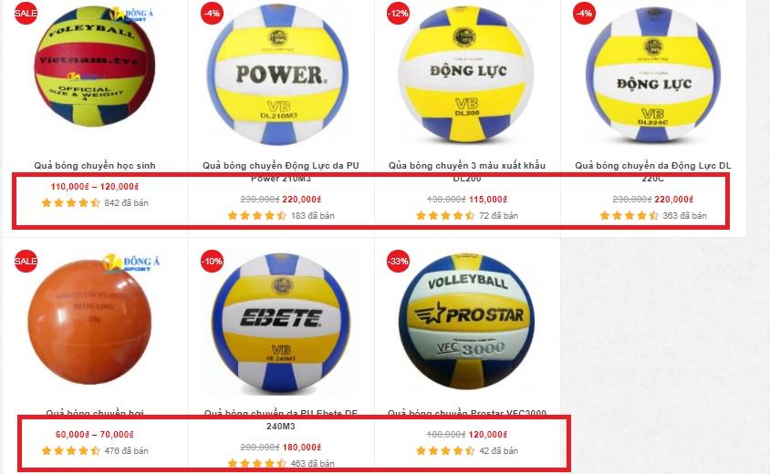 Giá quả bóng chuyền
