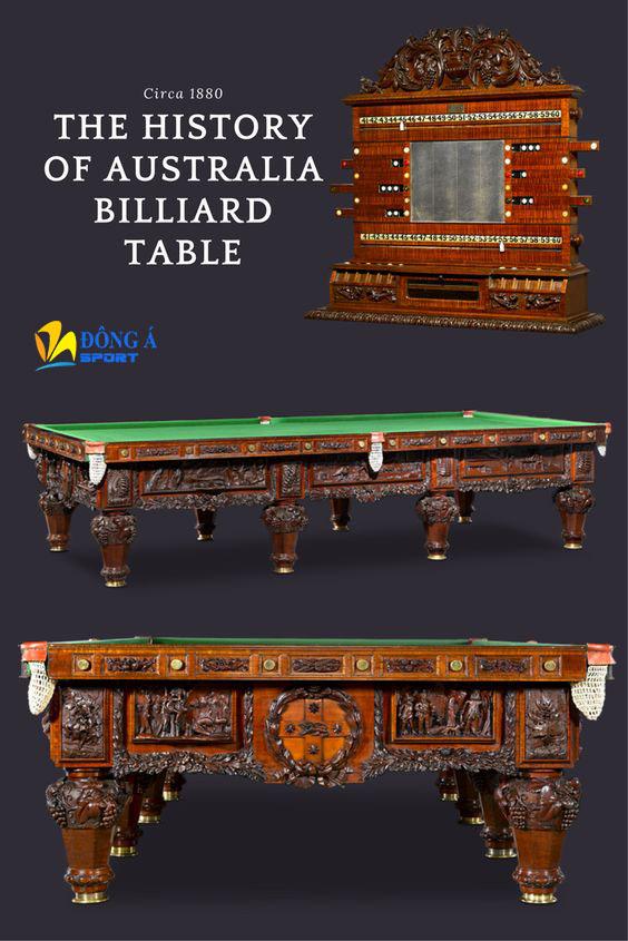 """Bàn bida """"Lịch sử của nước Úc"""" đắt giá"""