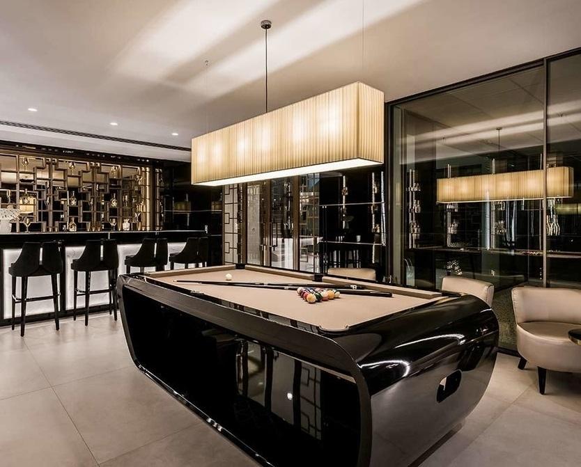 """Mẫu bàn """"Blacklight pool table"""" sang trọng"""