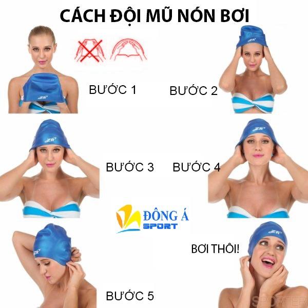Cách đội mũ bơi