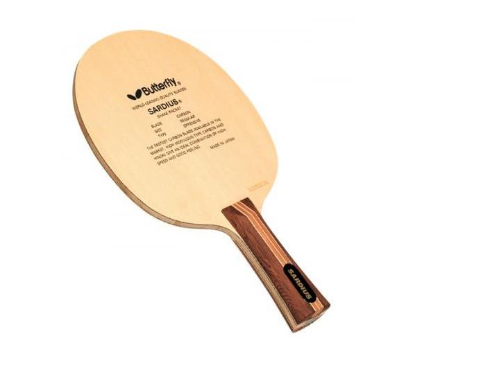 Cốt vợt bóng bàn Butterfly Sardius có chất liệu là cacbon