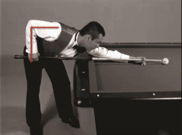 Khuỷu tay và cánh tay hợp thành góc 90 độ khi cầm cơ