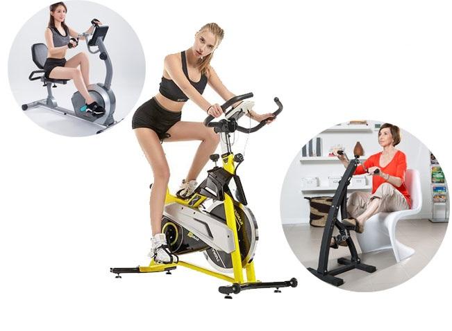 Có nhiều mẫu xe đạp tập thể dục tại nhà được bán trên thị trường