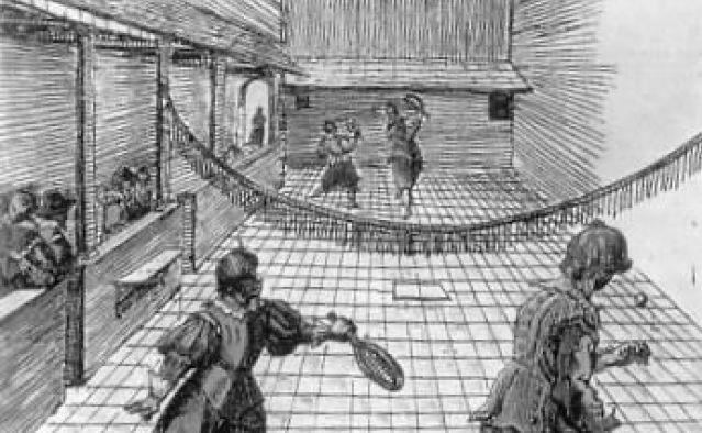 Hình ảnh chơi tennis từ xa xưa